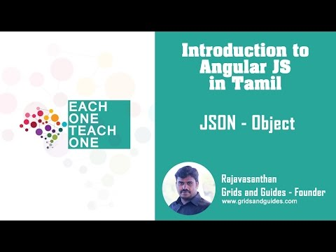 JSON/Object - Introduction to Angular in Tamil - E1T1