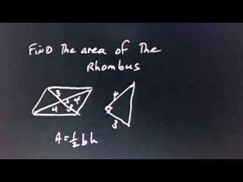 Area and Perimeter of a Rhombus