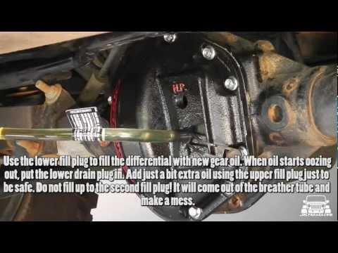 Jeep Wrangler JK Rear Differential Oil Change and Cover Replacement (Teraflex and Lube Locker)