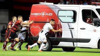 Ambulância Sendo Empurrada por Jogadores do Vasco e Flamengo! 15/09/2018