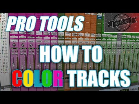 PRO TOOLS - HOW TO COLOR TRACKS