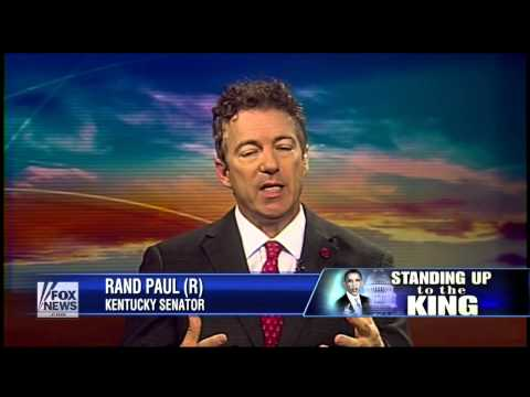 Rand Paul: I'm Afraid President Obama Has A King Complex Developing -  Fox News 1/16/2013