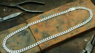 YARING PLATERO Video 141 - Cuban Link Necklace from the Silver Bars (description below)