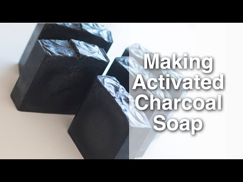MAKING AND CUTTING CHARCOAL SOAP|100% COCONUT OIL SOAP|COCONUT MILK SOAP