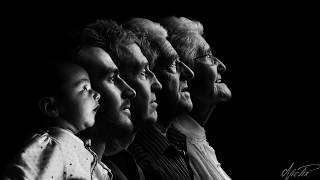 5 generations Black and white portrait making of