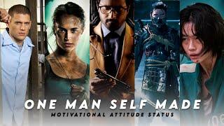 One man self made 😉👊Full Screen Motivational Attitude Status❤🔥 Motive Editor