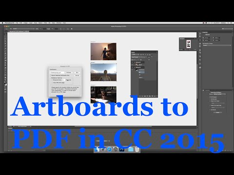 Photoshop CC 2015 Artboards and export to PDF shapes  tutorial
