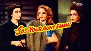 So's Your Aunt Emma! (1942) Action, Comedy, Crime Full Length Film