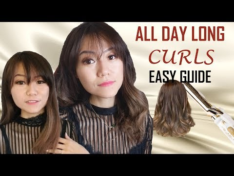 How To Get Big Bouncy Curls That Last | Curling Iron Tutorial 中长发大卷