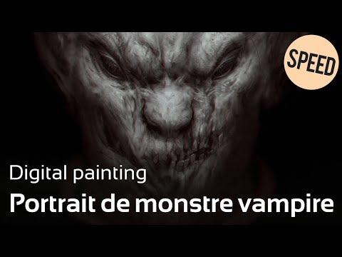 SPEED - Portait de monstre vampire en digital painting