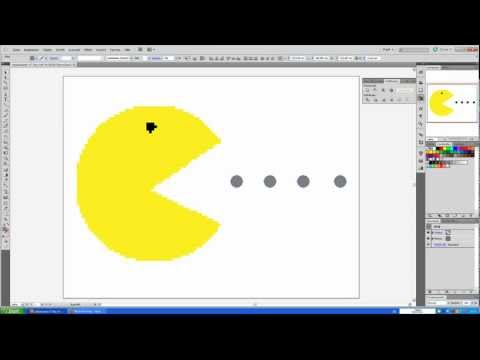 Teil 12 Adobe Illustrator Tutorial : Pixelbild Pacman