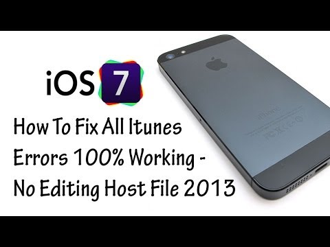 How To Fix All Itunes Errors 100% Working - No Editing Host File {2013}