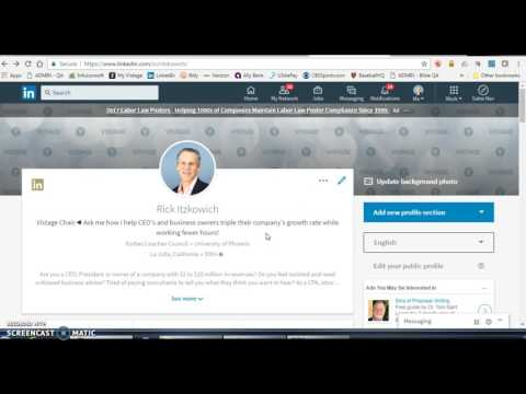 How to Re-arrange Current Positions on Your LinkedIn Profile