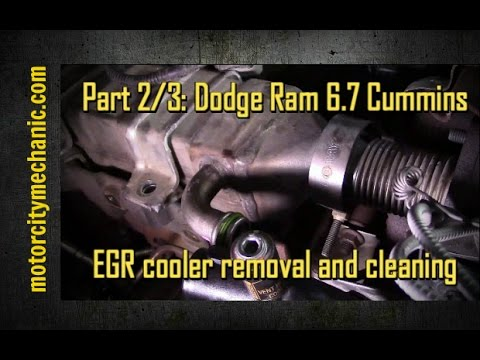 Part 2/3: Dodge Ram Cummins 6.7 diesel EGR cooler removal and cleaning