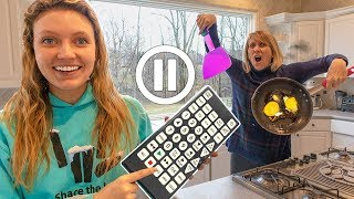 PAUSE CHALLENGE on MOM SHARER for 24 HOURS!! (Surprise Reveal Evidence Clues Hinted) Sis VS Bro