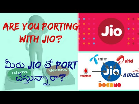 PORT{MNP}To Reliance Jio 4G Network & Get Unlimited Data,Calls & Sms? Telugu