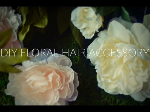 DIY Floral Hairpiece - Hair Accessory