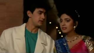 Aamir Khan and Juhi Chawla Kissing Scene - Love Love Love - Romantic Kiss