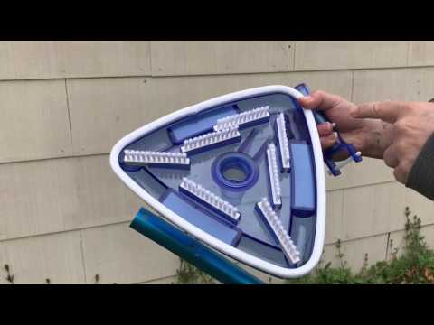 Hydro Tools 8145 Clear Triangular Weighted Pool Vacuum Head