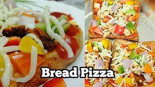 ബ്രെഡ്  പിസ്സ /Bread Pizza/Easy kids tiffin box recipes/bread pizza on tawa or pan