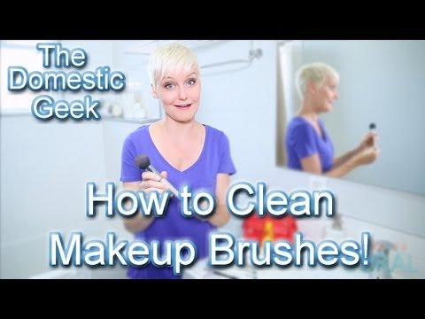 The Domestic Geek: How to Clean Makeup Brushes!