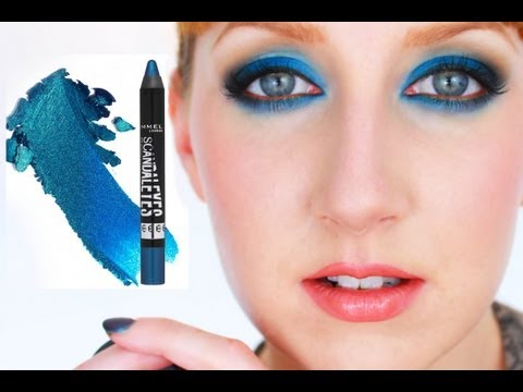 How to Rock Blue Eyeshadow! | Rimmel ScandalEyes Shadow Stick Demo