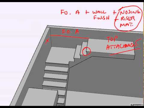 Flat Landing Intro - How to calculate a floor opening for an L-shaped stair.
