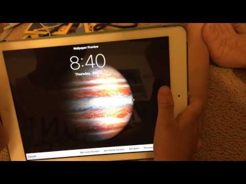 How To Set Up Wallpaper in ipad