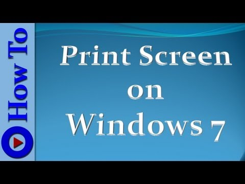 How to print screen on Windows 7