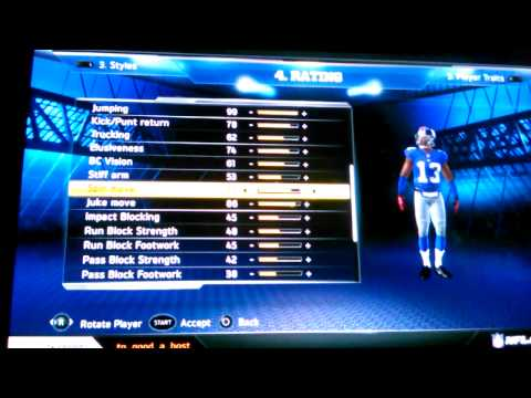How to create odell beleckhamJR on madden 13 psvit