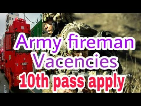 Indian army fireservice requirement .All india canidates apply..