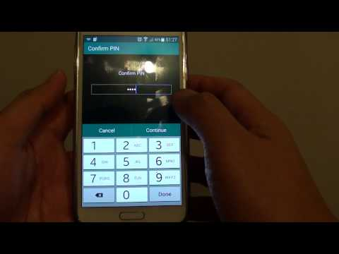 Samsung Galaxy S5: How to Change Private Mode PIN / Password