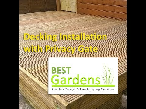 Decking Installation with Privacy Gate
