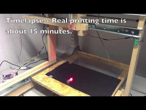 DIY laser cutter - Whale shark timelapse