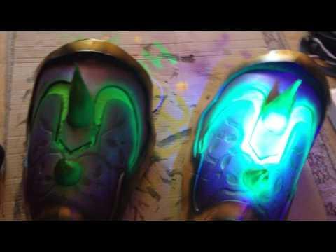 Cordana's fluorescent paint reacts to UV light