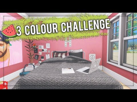 The Sims 4: Let's Decorate // 3 Colour Challenge #20 + CC LIST