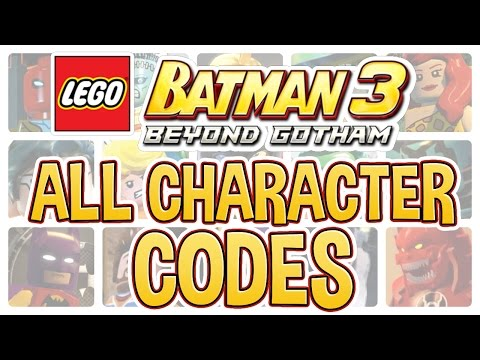 LEGO Batman 3 - All Character Codes