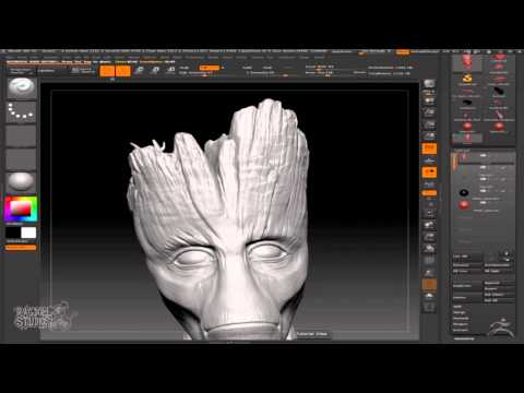 Guardians of the Galaxy's Groot : ZBrush Speed Sculpting
