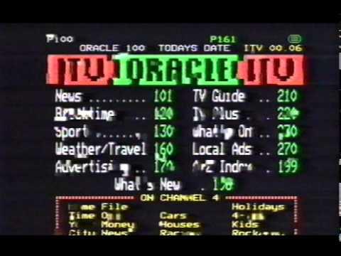 Teletext Oracle Weather - ITV Advertisement 1986
