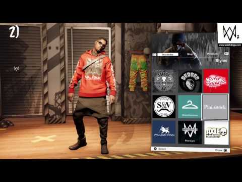 TOP 5 OUTFIT'S IN Watch Dogs 2