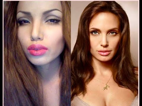 Angelina Jolie Make-up Transformation