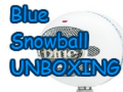 Blue Snowball Microphone Unboxing/ Overview - REVIEW COMING SOON