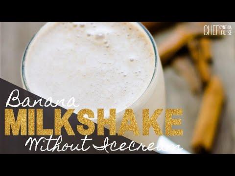 How To Make A Banana Milkshake Without Ice Cream
