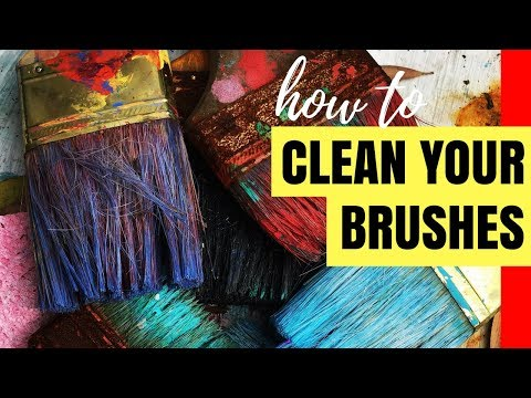 How to Clean Acrylic Paint Off Your Brush | Acrylic Art Tips for Beginners