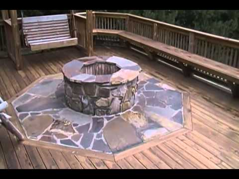 Building a Fire Pit on a Deck