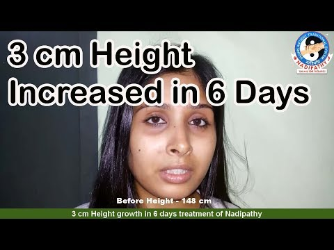 3 cm Height growth in 6 days-Nadipathy