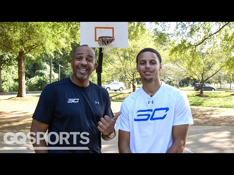 Can Stephen Curry Beat Dad Dell in a Game of H-O-R-S-E? | GQ