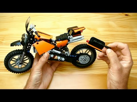 How to Build a Travel Enduro Motorcycle (Lego Technic Toy)