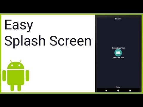 Easy Splash Screen - Android Studio Tutorial