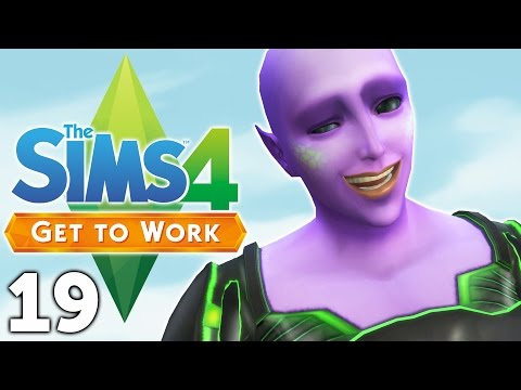 Let's Play The Sims 4 Get to Work - Part 19 - So Many Aliens!